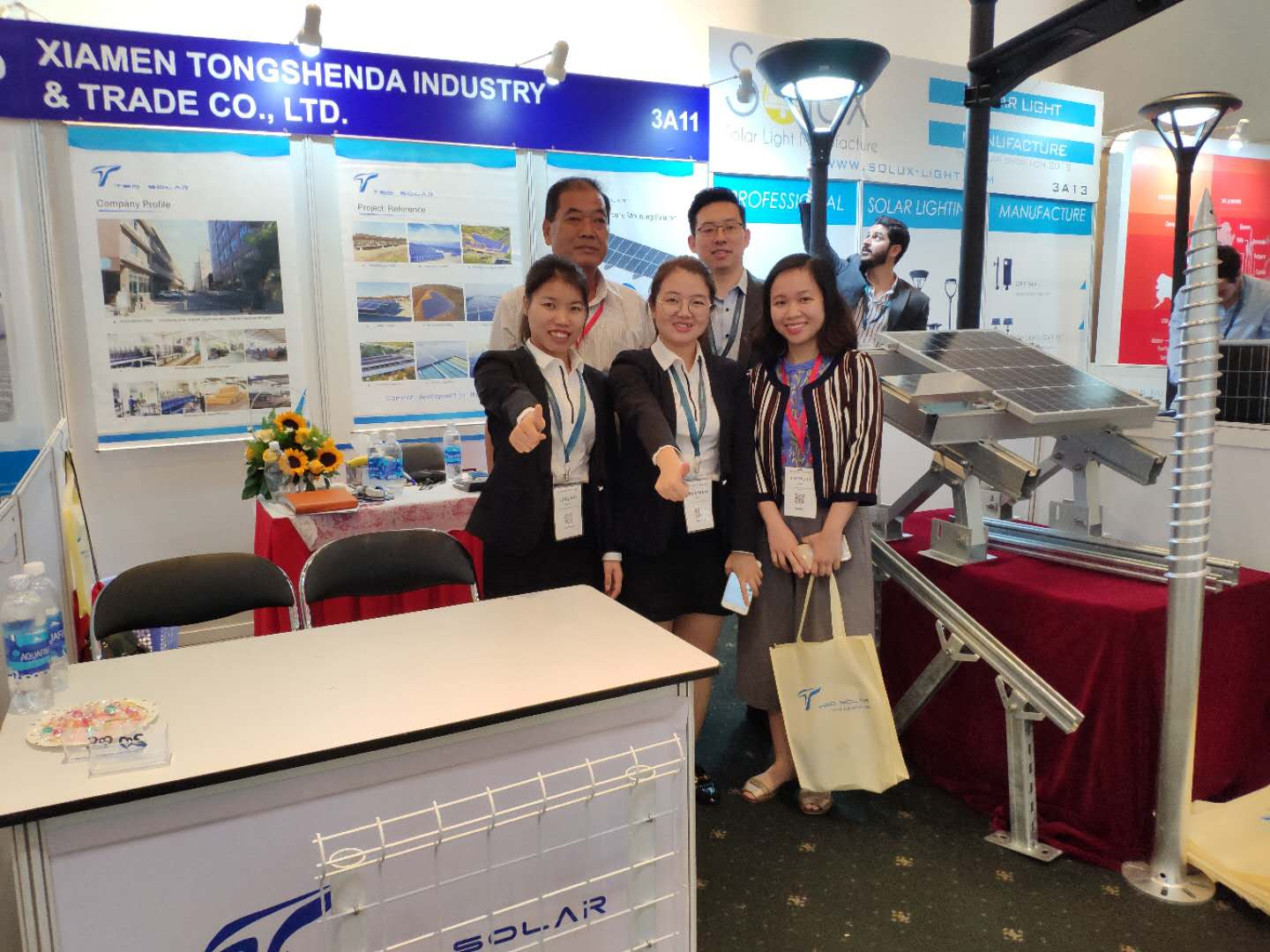 TSD Solar Team at the Solar Show 2019 Vietnam